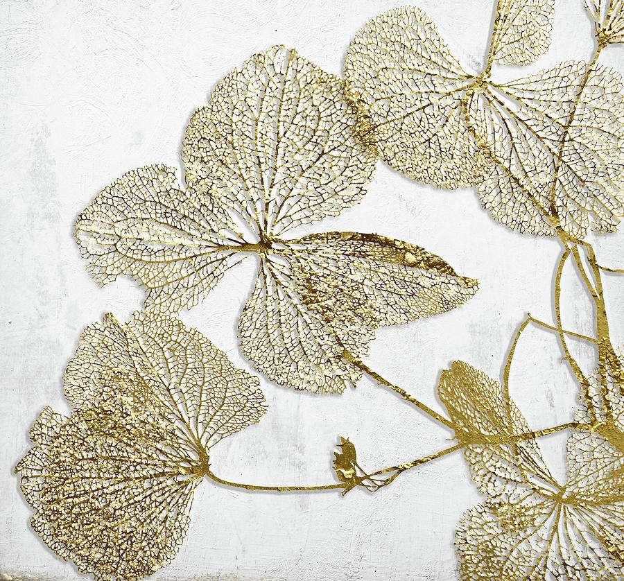 Gilded Leaves I Painting