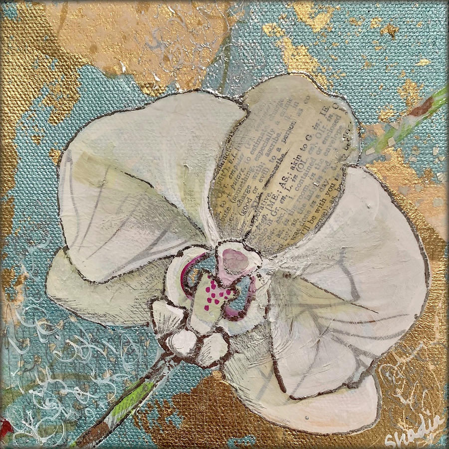 Gilded Orchid I Painting