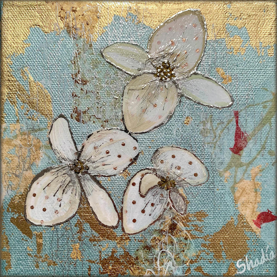Gilded Orchid II Painting
