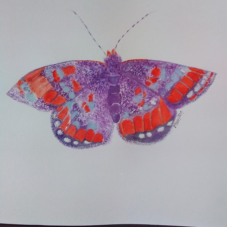Gilette Checkerspot Painting by Renee Sugar