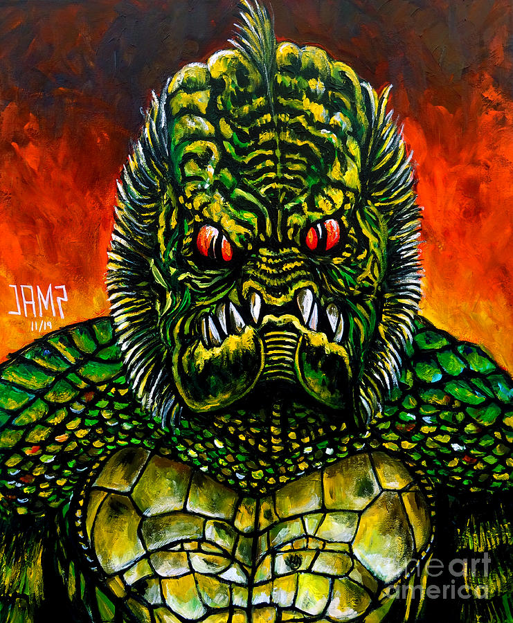 Gillman Painting - Gillman Monster Squad by Jose Mendez