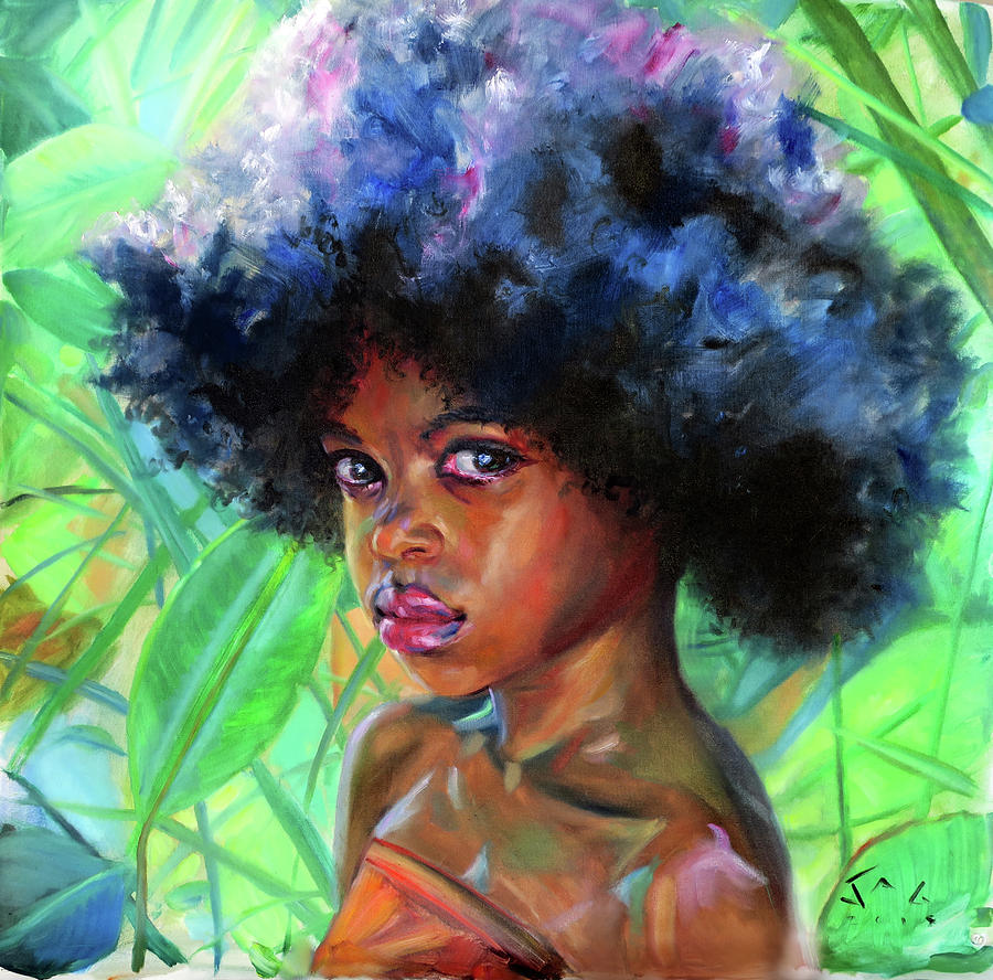 Caribbean Painting - Gina- Rainforest by Jonathan Guy-Gladding JAG