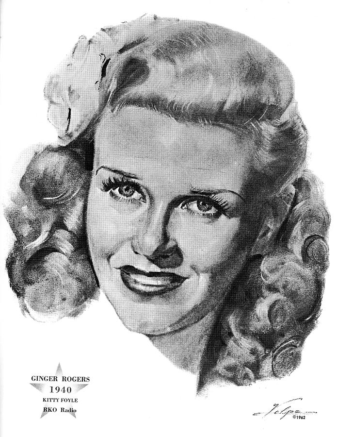 Ginger Rogers By Volpe Drawing