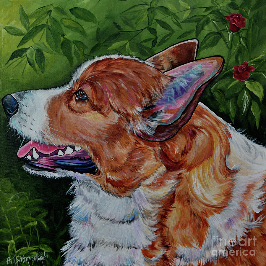 Ginger the Corgie by Patti Schermerhorn