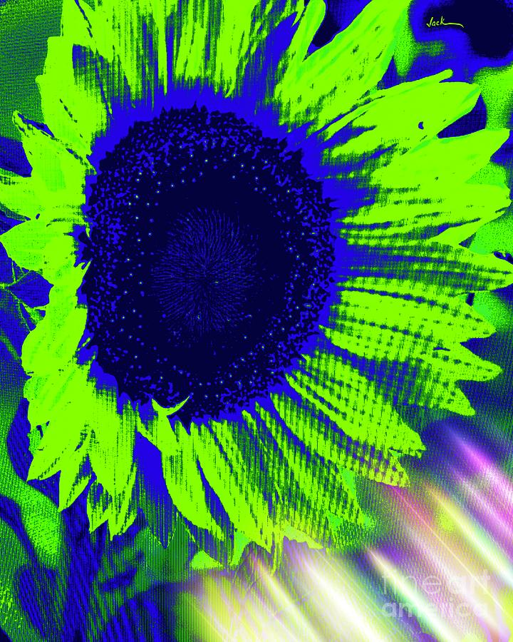 Sunflower Painting - Ginormous Sunflower  by Jack Bunds