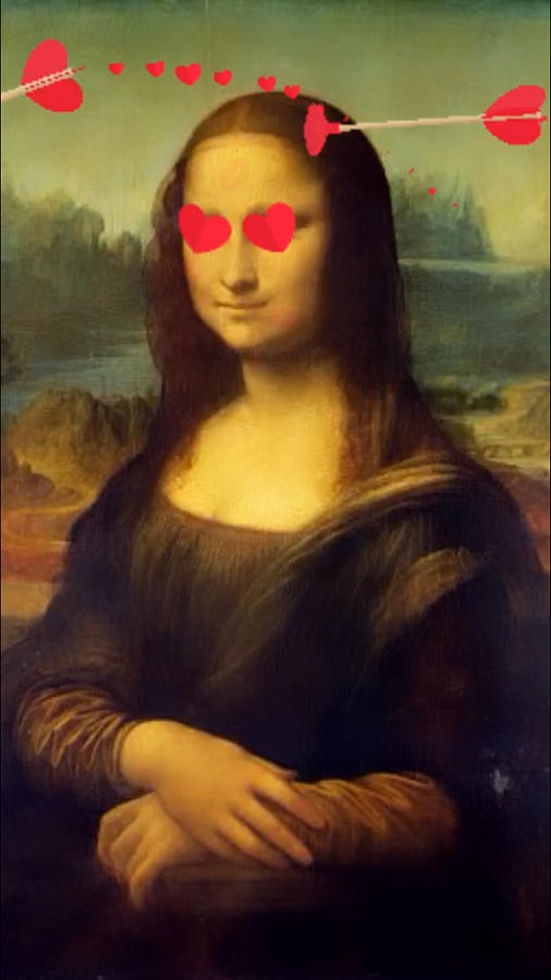 Gioconda - Mona Lisa instagram filters - Hearth Eyes  by Andrea