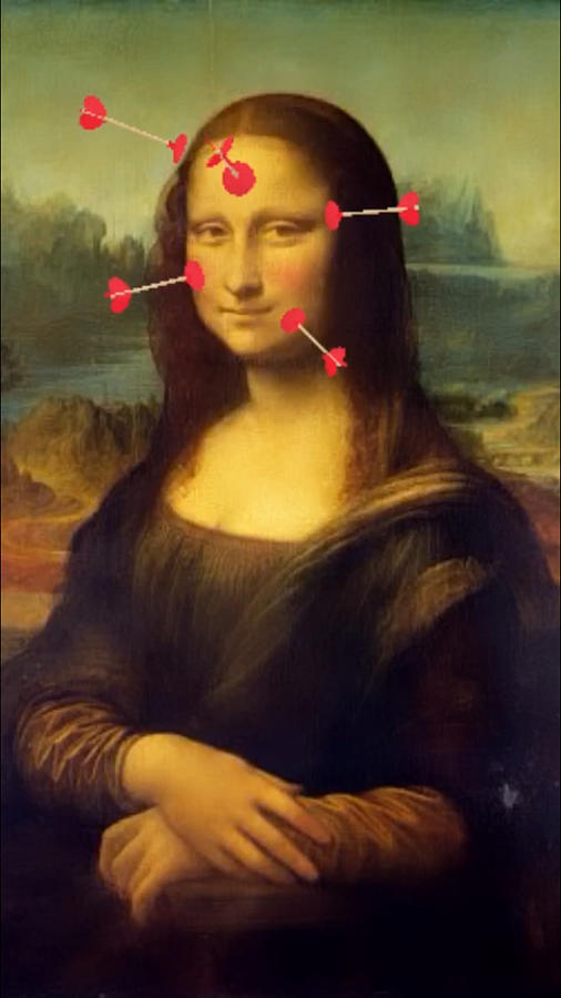 Gioconda - Mona Lisa instagram filters - Love Arrows by Andrea