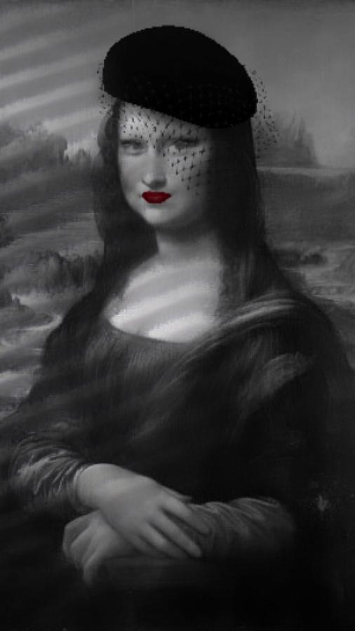 Gioconda - Mona Lisa instagram filters - Noir  by Andrea