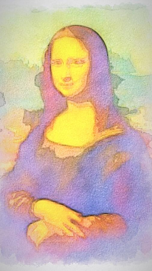 Gioconda - Mona Lisa instagram filters - Watercolors  by Andrea