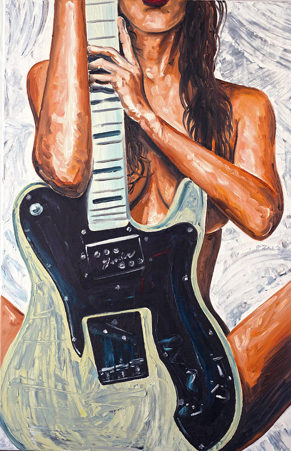 Naked girls guitars Girl And Guitar Painting By James Holko