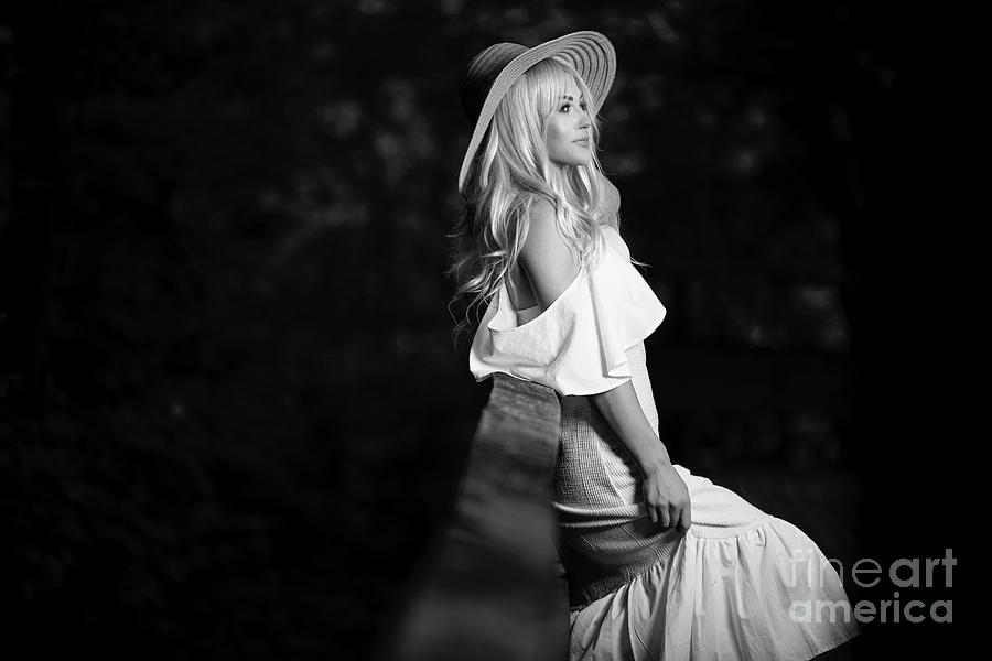 Girl and hat by Mirza Cosic
