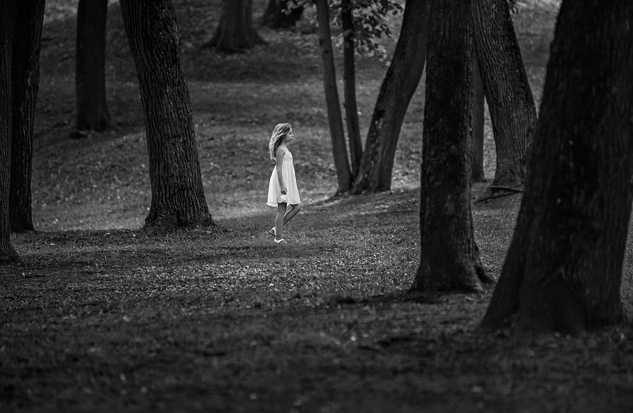Girl in the forest Photograph by Mrs