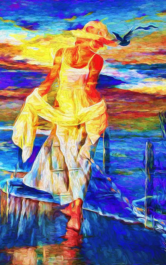 Girl On Beach 3 Painting