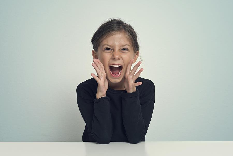 Girl screaming Photograph by Francesco Carta fotografo