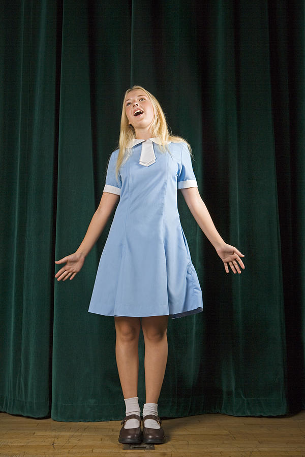 Girl singing on stage Photograph by IT Stock Free