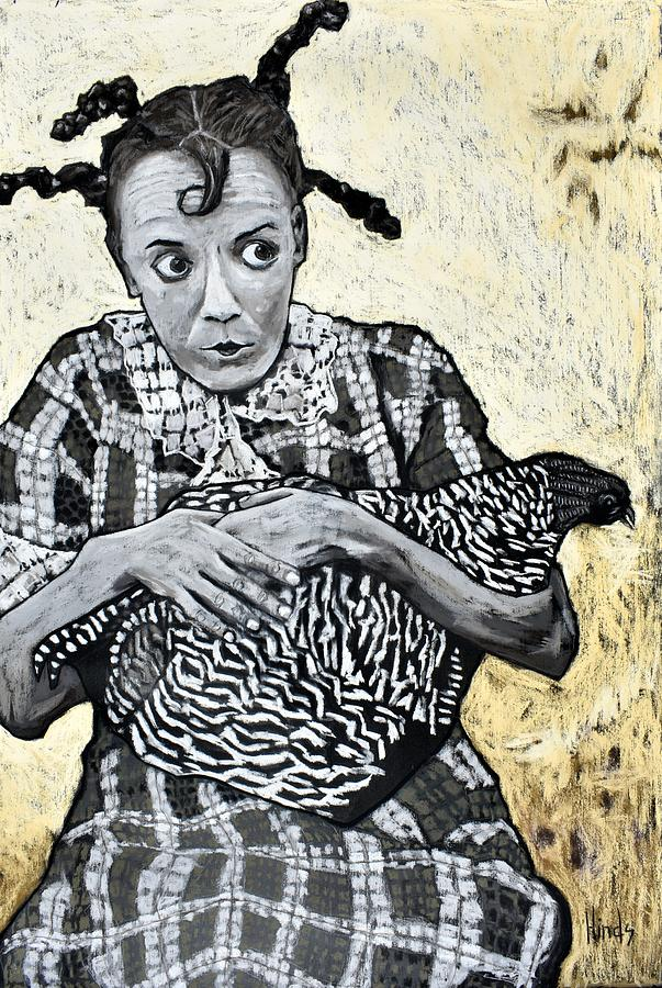 Girl With A Chicken Painting