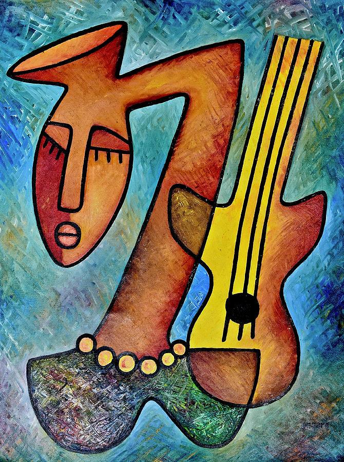 Girl with Guitar by Elisha Ongere
