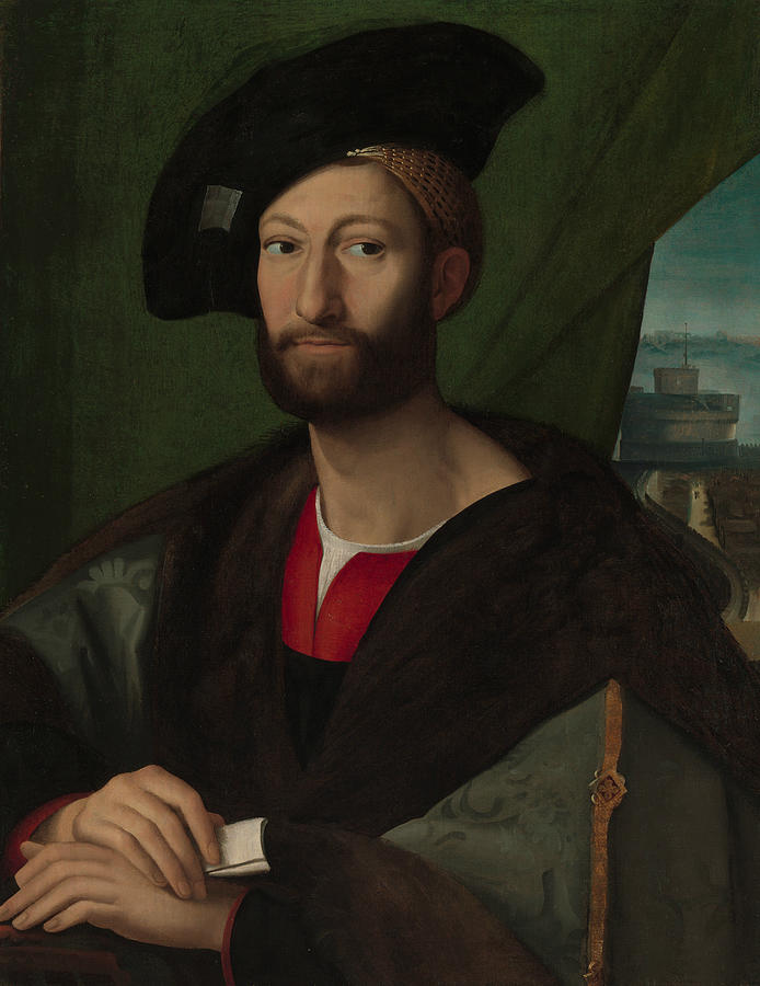 Italian Painters Painting - Giuliano De Medici, Duke Of Nemours by Workshop of Raphael