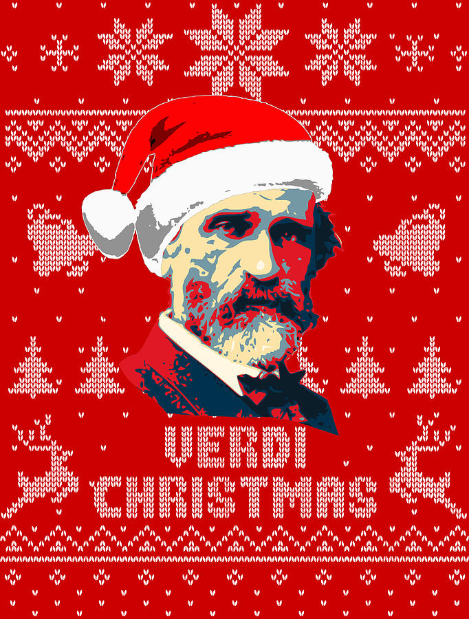 Santa Digital Art - Giuseppe Verdi Christmas  by Filip Schpindel