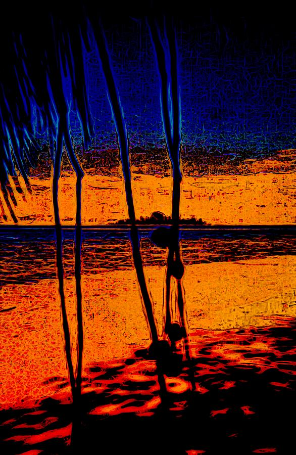 Gizo Island Views Abstract by Joan Stratton