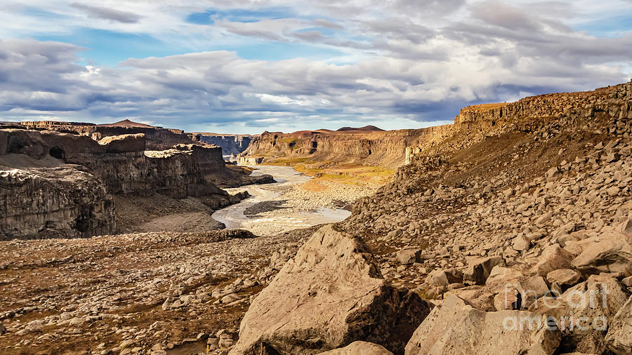 Glacial River Canyon, Iceland by Lyl Dil Creations