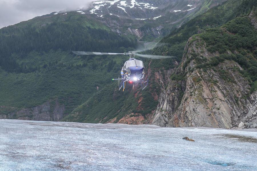 Glacier Chopper Landing Photograph