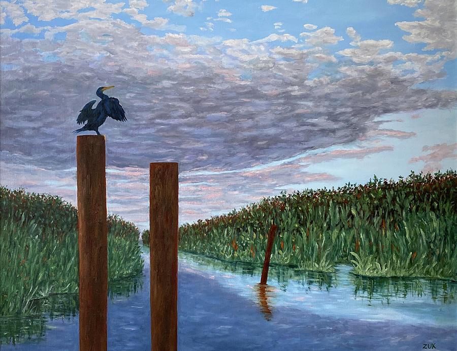 Glades Surveyor Painting by Karen Zuk Rosenblatt