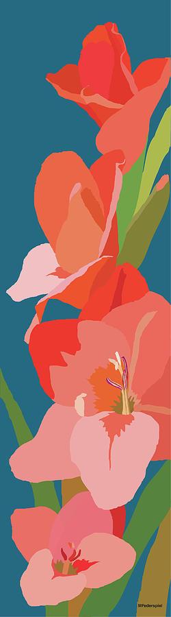 Floral Painting - Gladiolus by Marian Federspiel