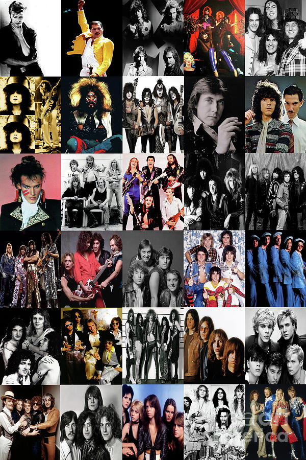 Glam Rock - 1970's by Doc Braham