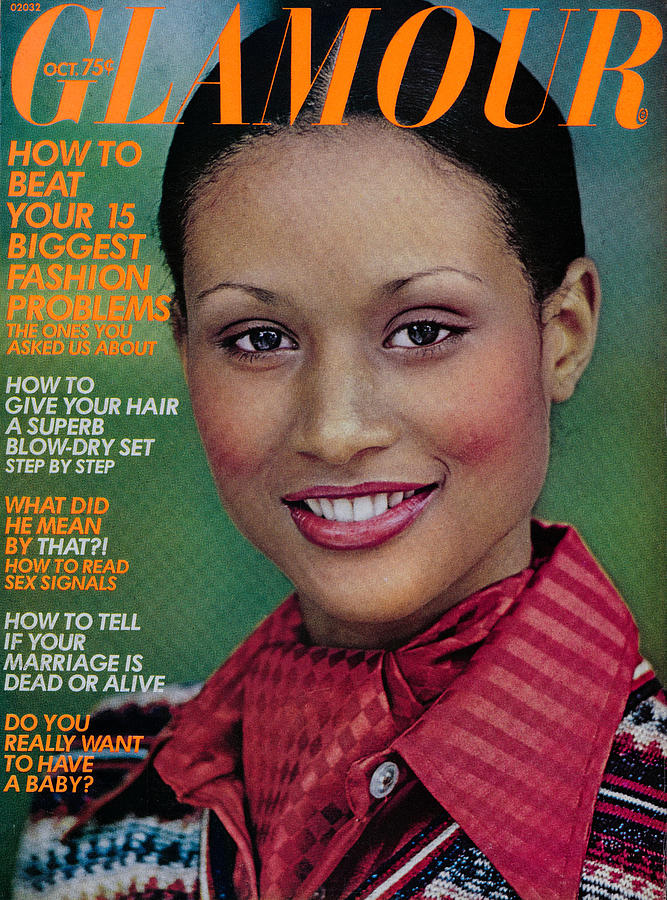 Glamour Magazine Cover October 1973 Photograph by Mike Reinhardt