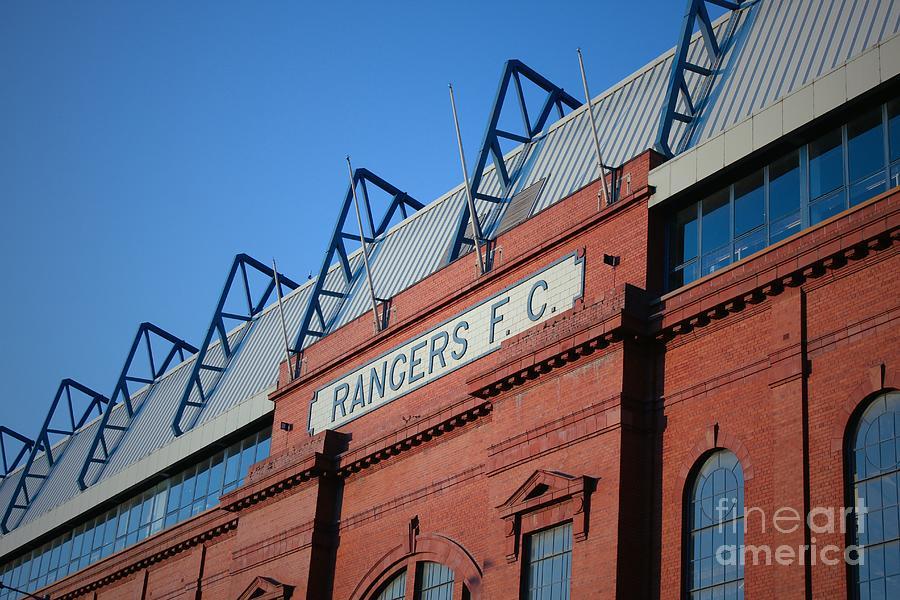 Glasgow Rangers Ibrox Stadium sunset gates wall canvas art photography print