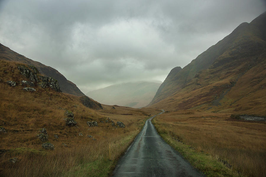 Glen Etive Photograph - Glen Etive, Scotland by Emily Sandifer