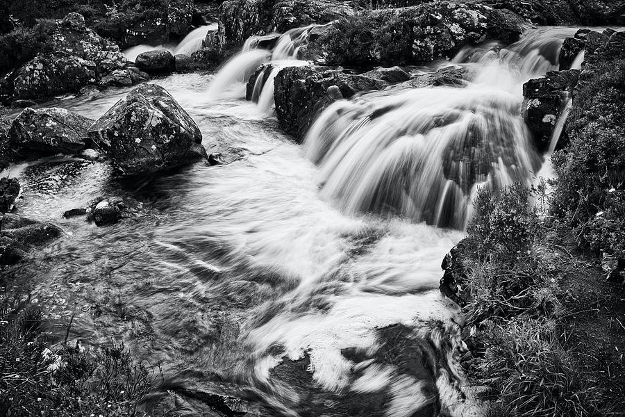 Scotland Photograph - Glen Etive Waterfall - Scotland by Stuart Litoff