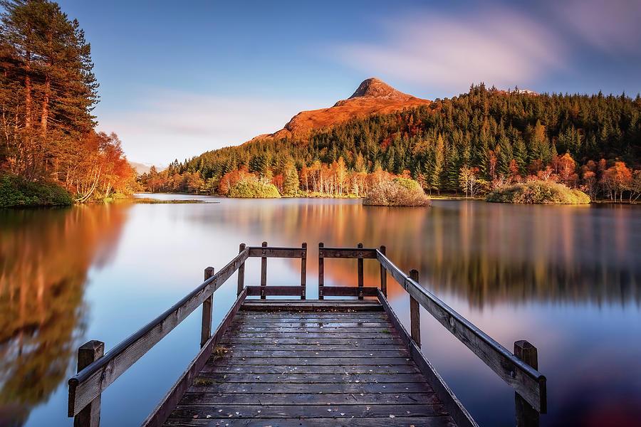 Glencoe Photograph - Glencoe Lochan  by Grant Glendinning