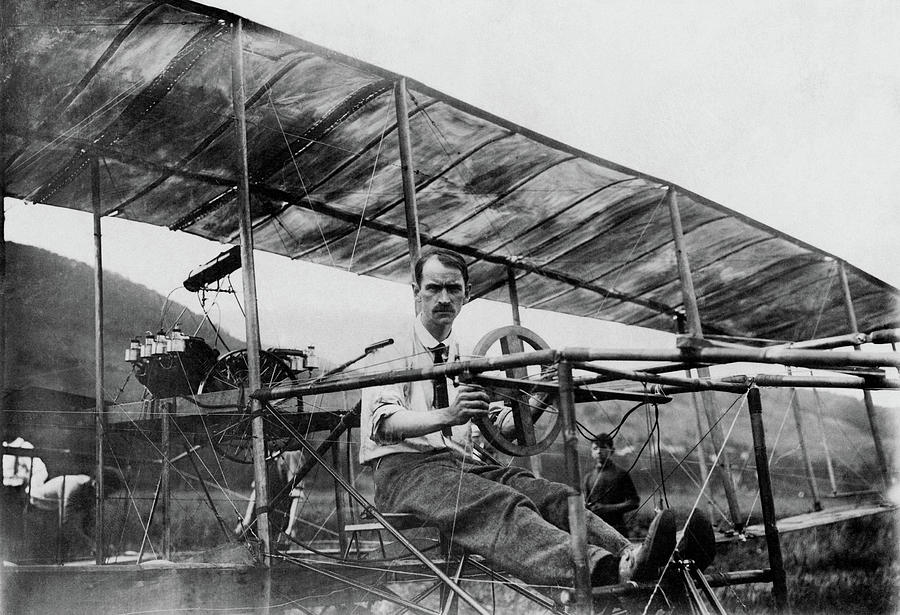 Glenn Curtiss In His Biplane - 1908 by War Is Hell Store