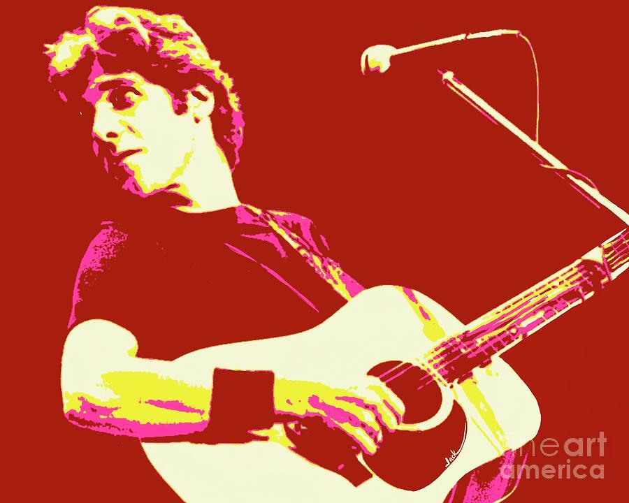 Glenn Frey Painting - Glenn Frey solo by Jack Bunds