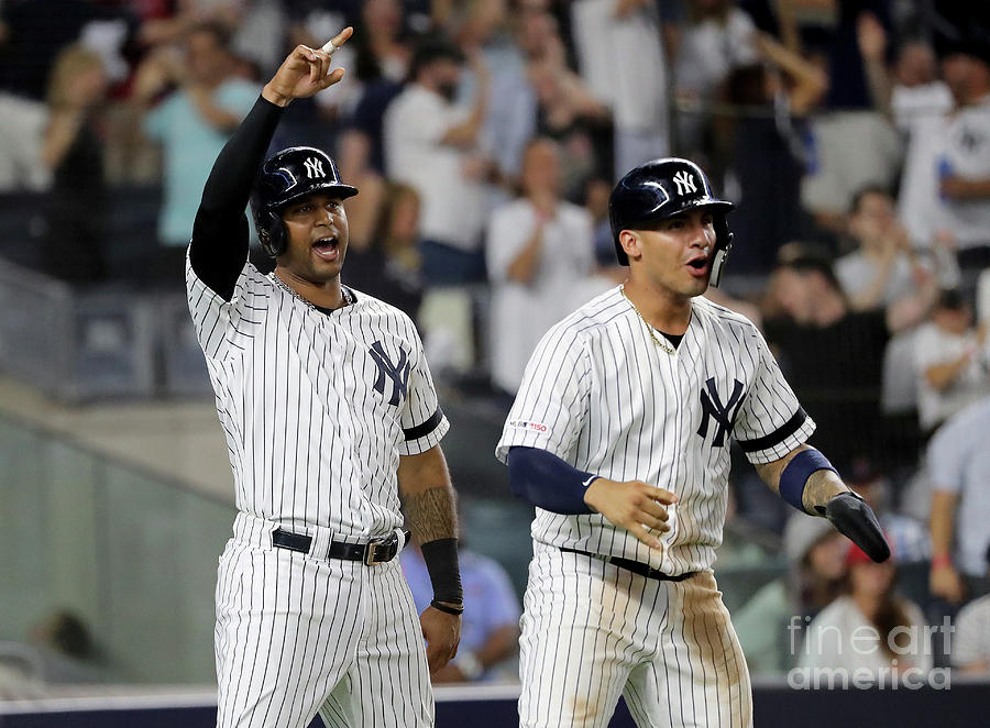 Gleyber Torres and Aaron Hicks Photograph by Elsa