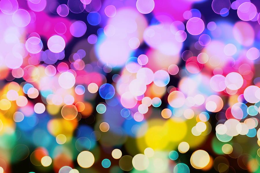Glitter Vintage Lights Background Photograph