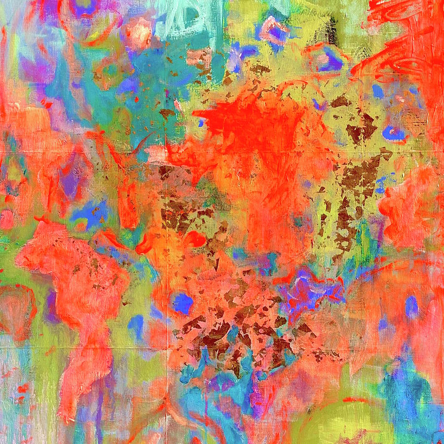 Abstract Painting - Global Travel by Margot Sappern