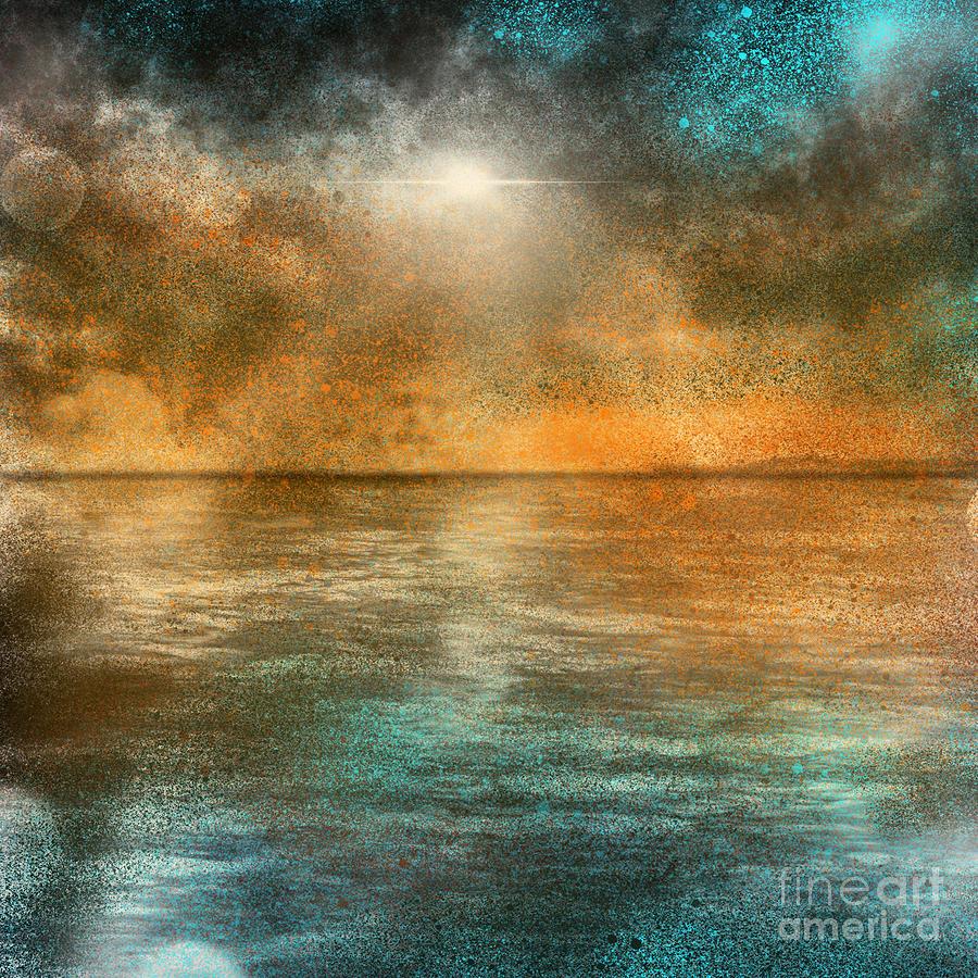 Sea Digital Art - Dramatic Sunset Seas by Remy Francis