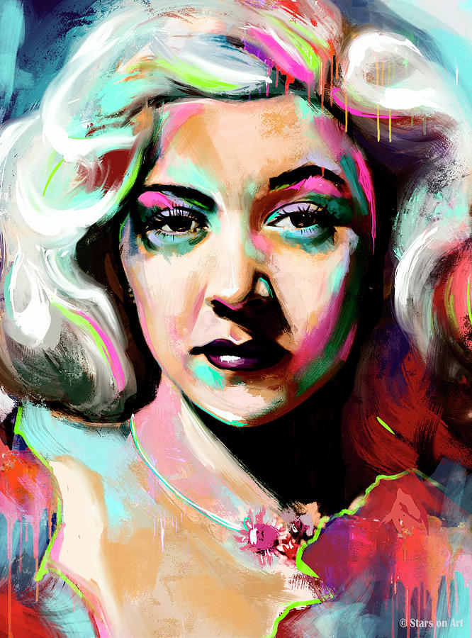 Gloria Grahame Painting Painting