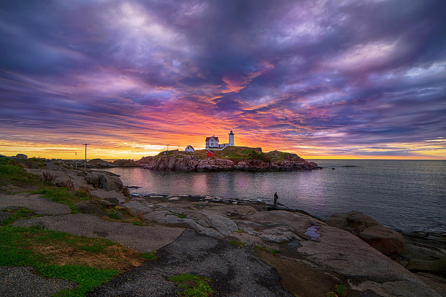 Glorious Morning Light At Nubble Lighthouse Photograph