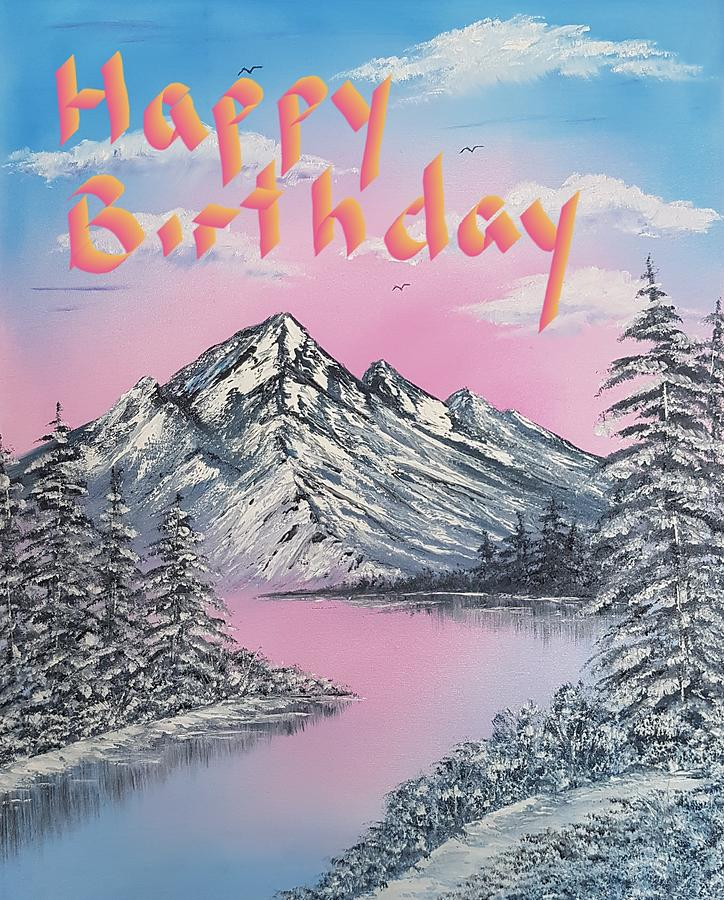 Glorious Pretty Cool Winter Happy Birthday Wishes Painting