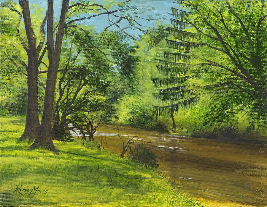 Spring Painting - Glorious Spring at Saucon by Rose Mavis
