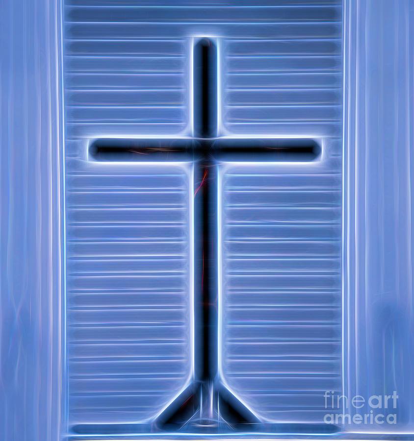 Glowing Cross by Karen Silvestri