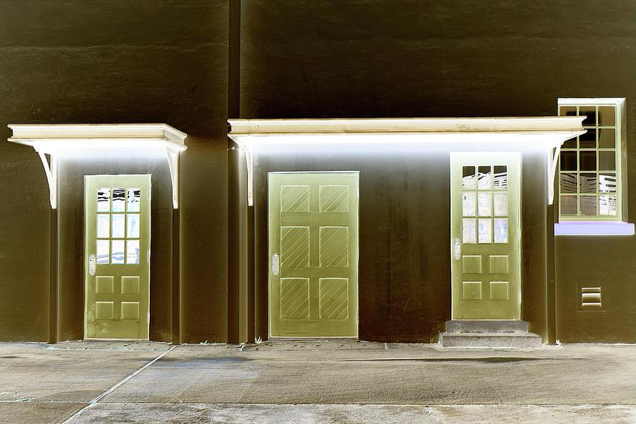Glowing Depot Doors by Kathy K McClellan