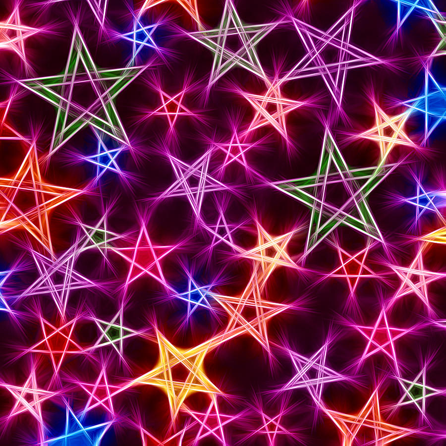 Glowing Stars Digital Art