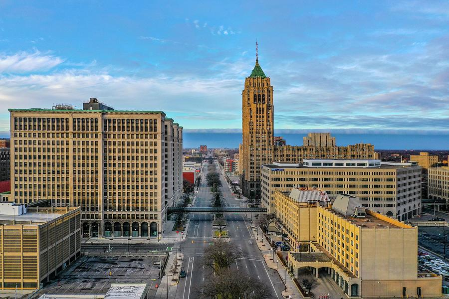 GM and the Fisher Building DJI_0825  by Michael Thomas