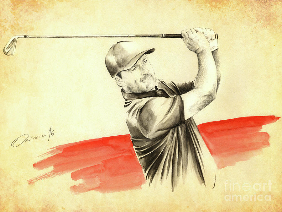 Graeme Mcdowell Painting - Gmac by Olivera Cejovic