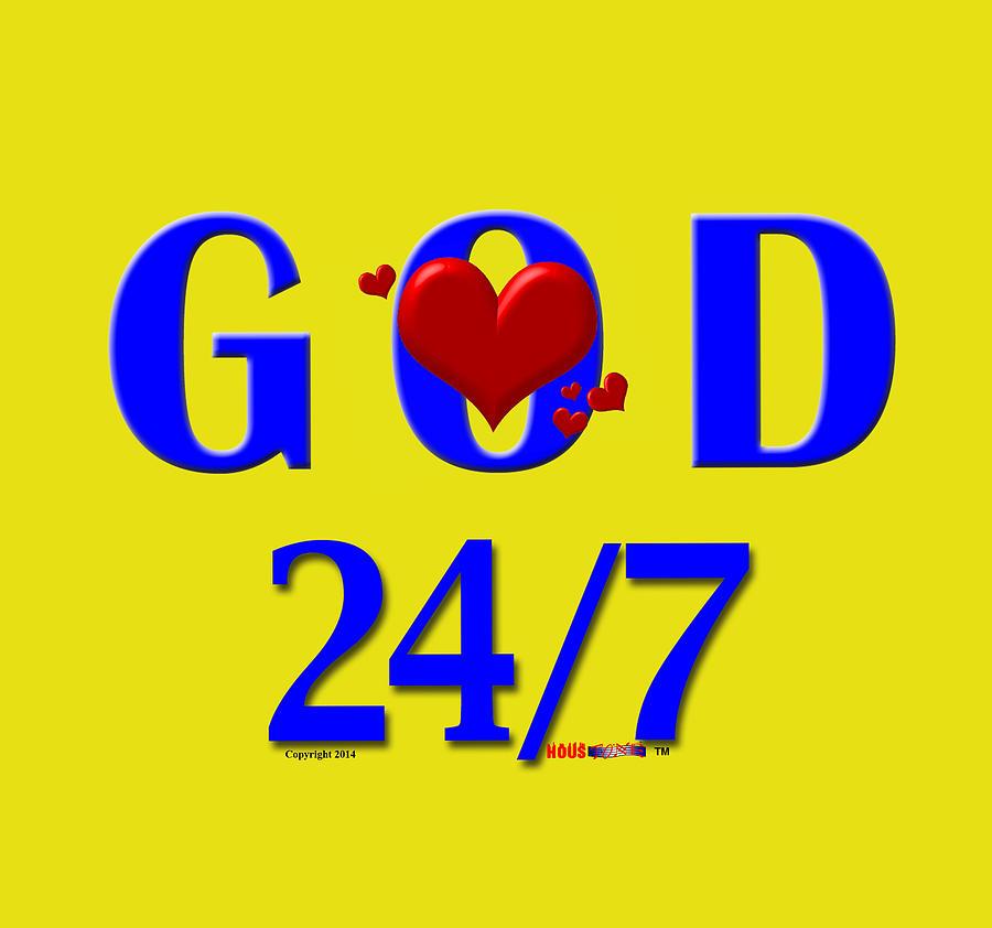 God Digital Art - God 24/7 by Sirron Kyles